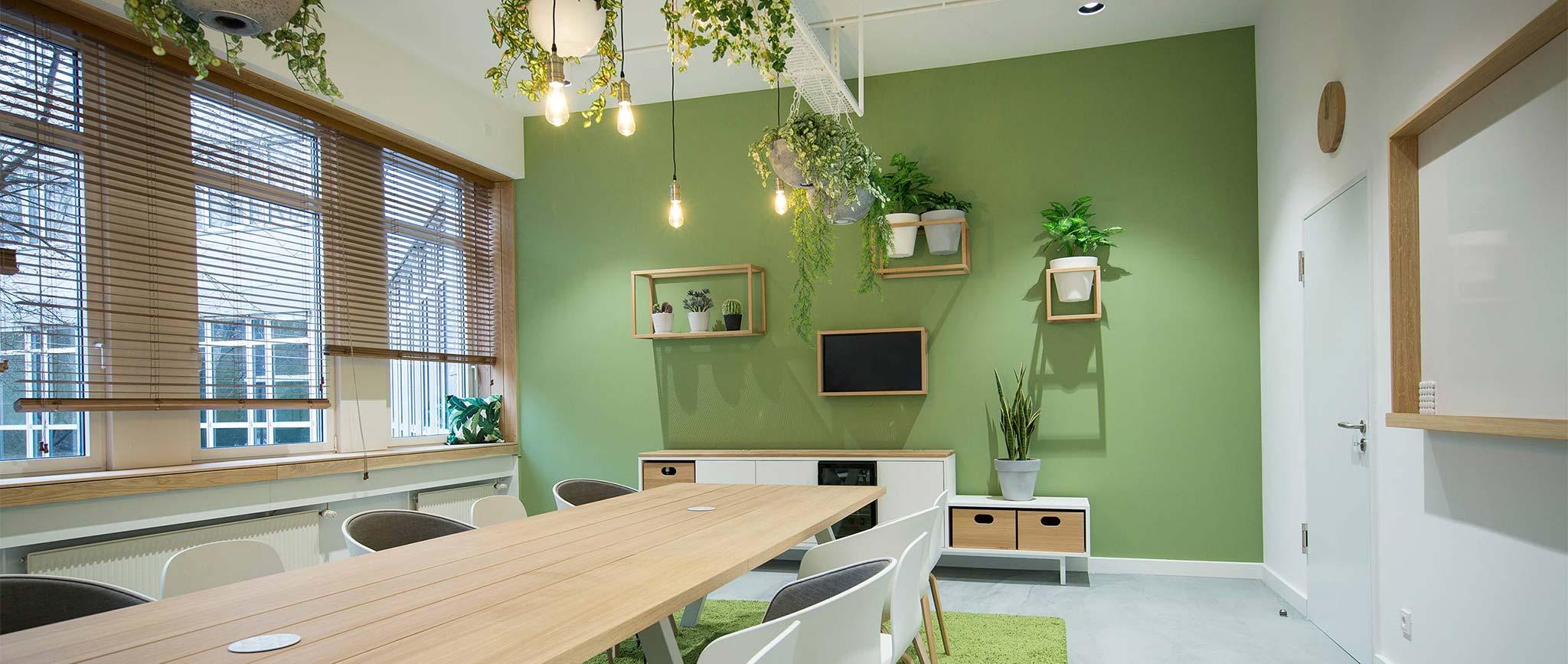 Der freenet Group Campus Hamburg: Raum Planten un Blomen, Design von der Agentur Preussisch Portugal