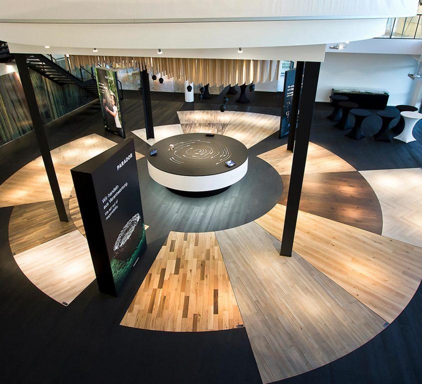 Parador Raumkonzept: Detail des Foyers