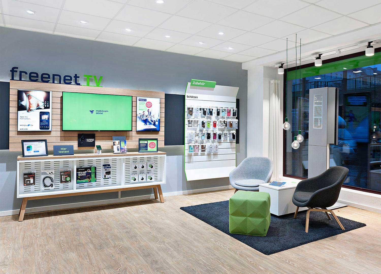 Modulare Shopgestaltung für mobilcom-debitel von der Designagentur Preussisch Portugal