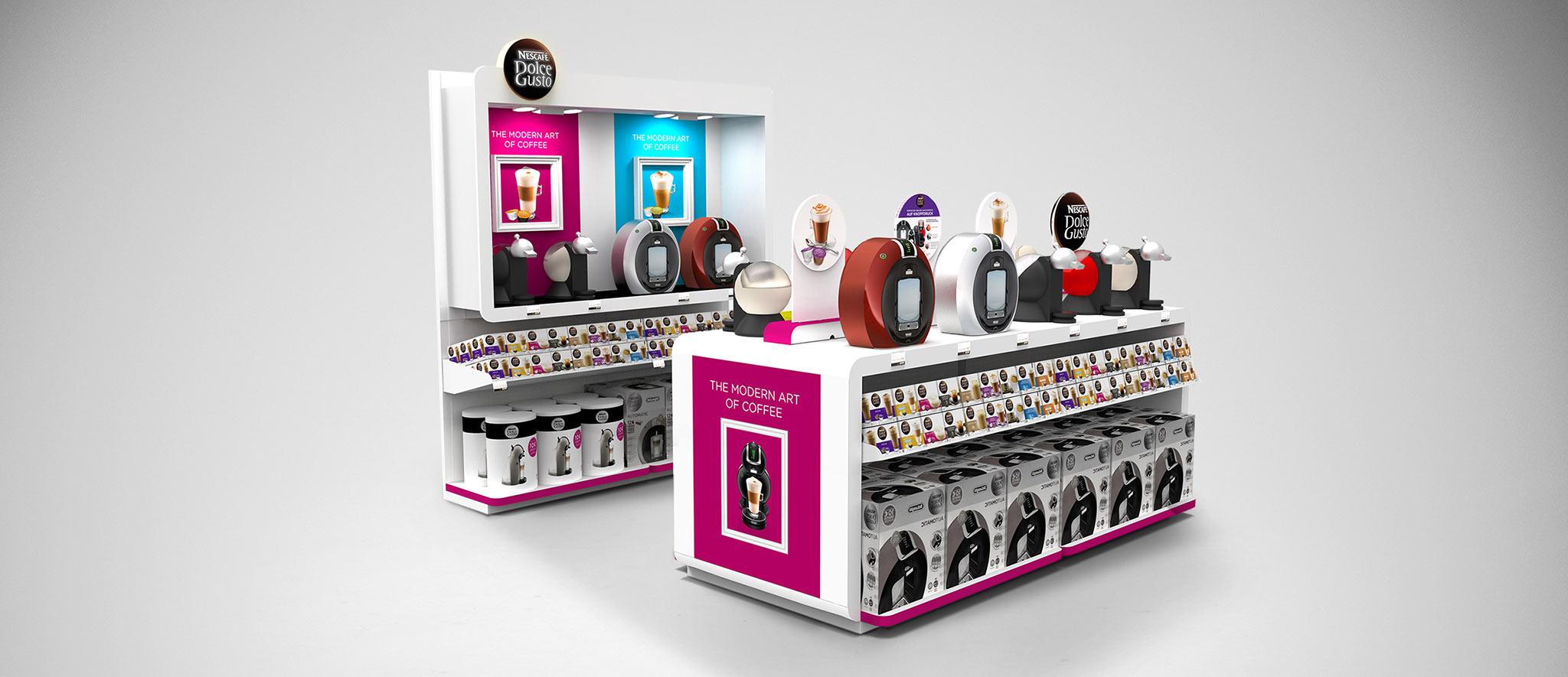 Dolcegusto: Shop-in-Shop-Konzept von Designagentur Preussich Portugal