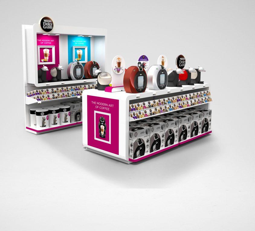 Nescafé Dolce Gusto Shop-in-Shop Konzept