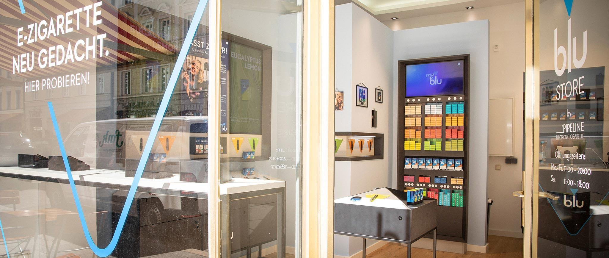 blu Shop-in-Shop System: Shopdesign von Agentur Preussisch Portugal aus Hamburg