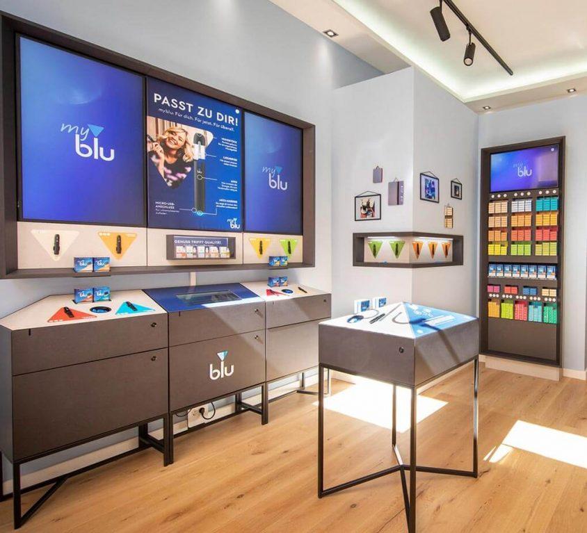 Reemtsma Shop-in-Shop System für blu