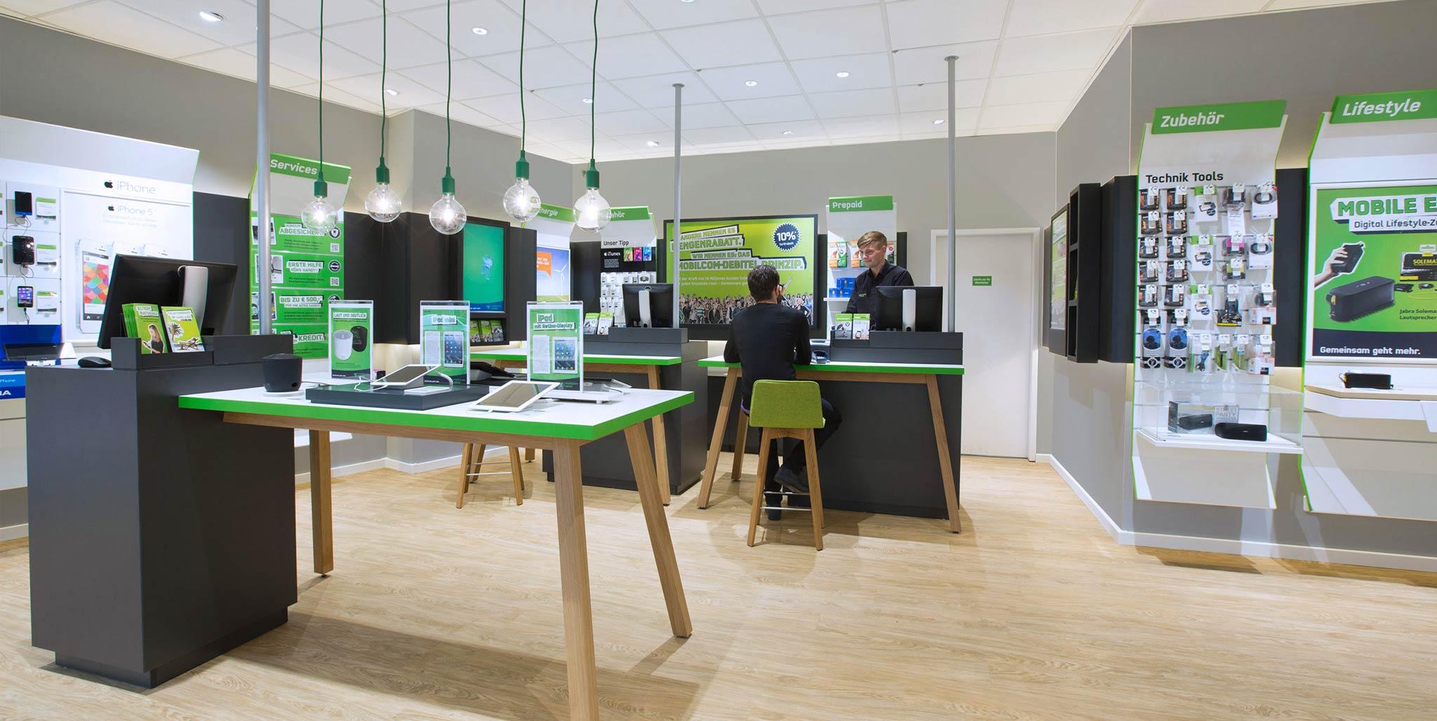 mobilcom-debitel: Shopdesign von Preussisch Portugal