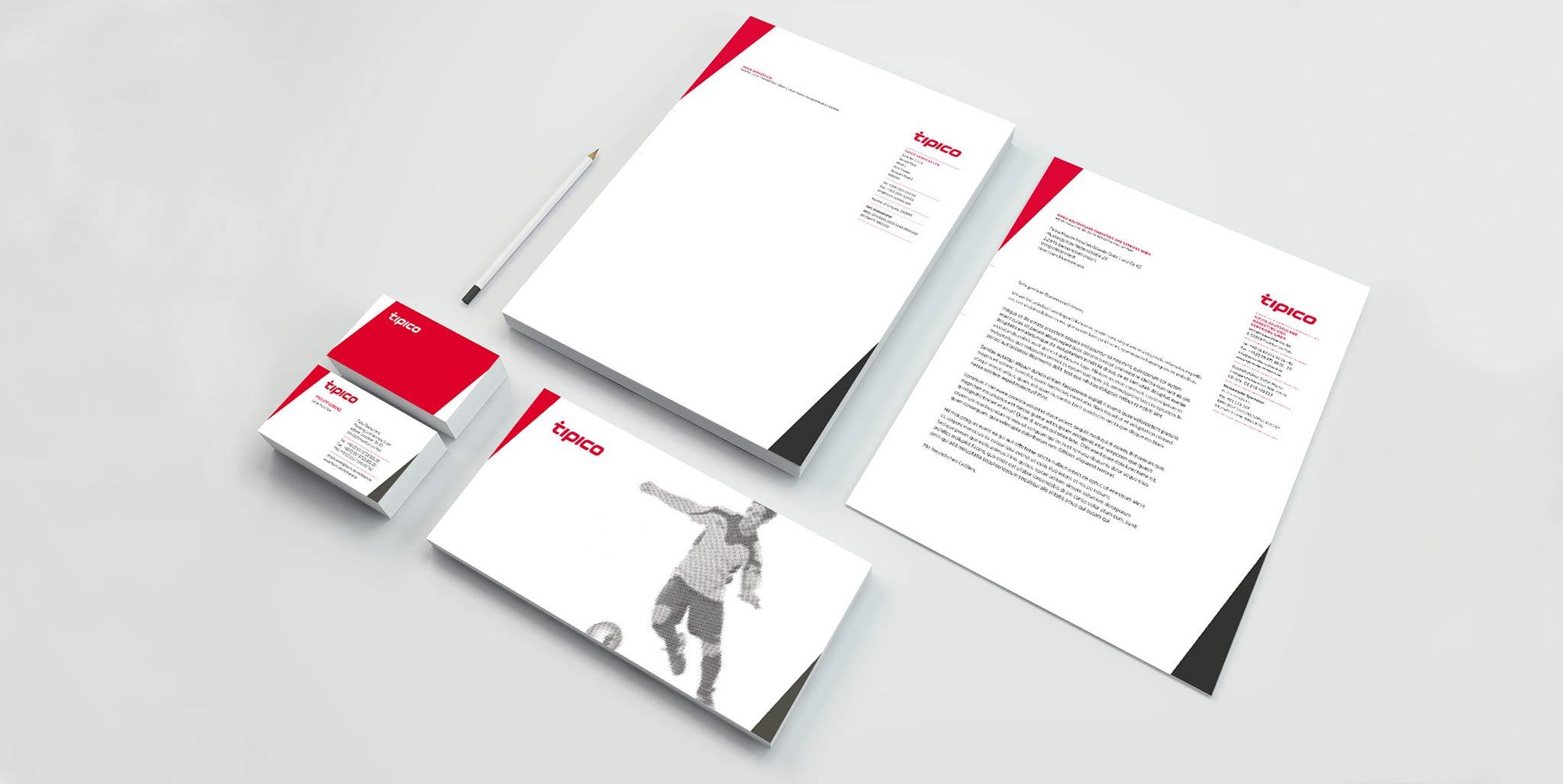 Tipico Geschäftsausstattung von der Designagentur Preussisch Portugal