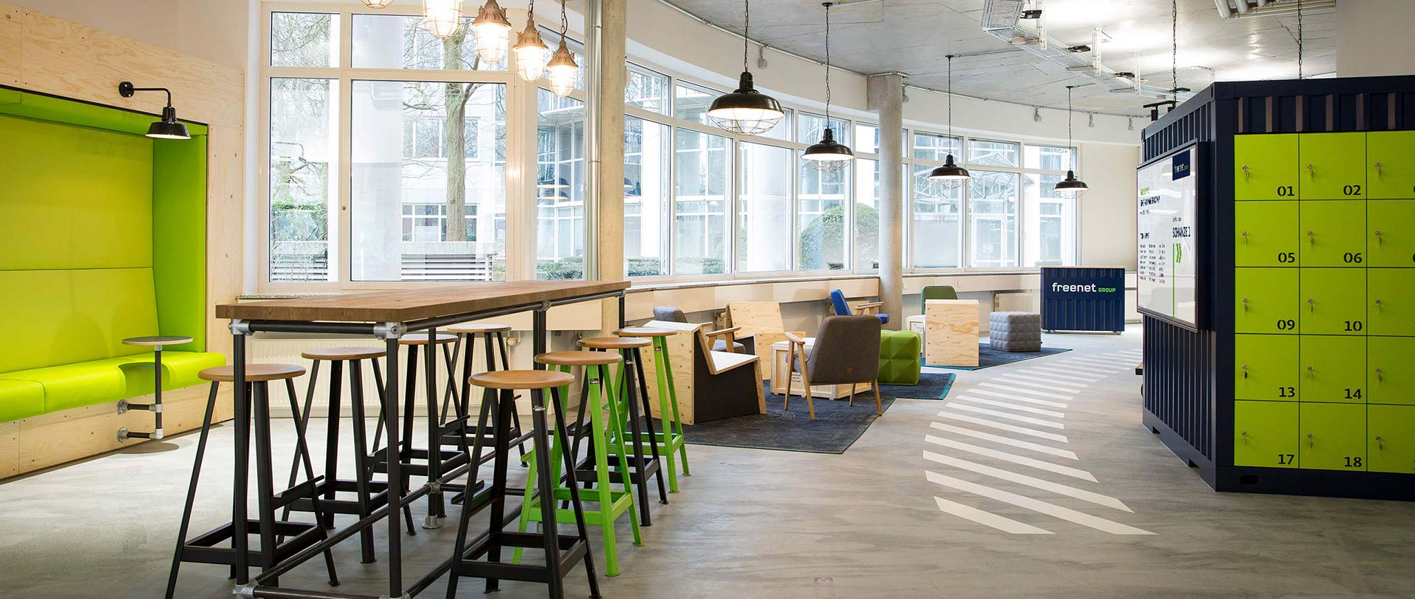 Interior Design für die freenet Group im Campus Hamburg von der Designagentur Preussisch Portugal