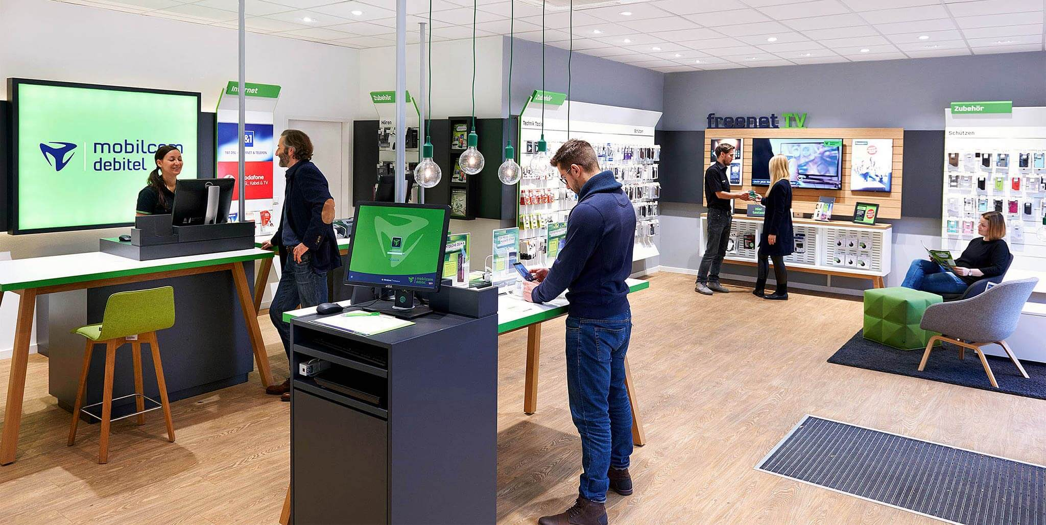 mobilcom-debitel: Modulares Shopdesign von Agentur Preussisch Portugal aus Hamburg