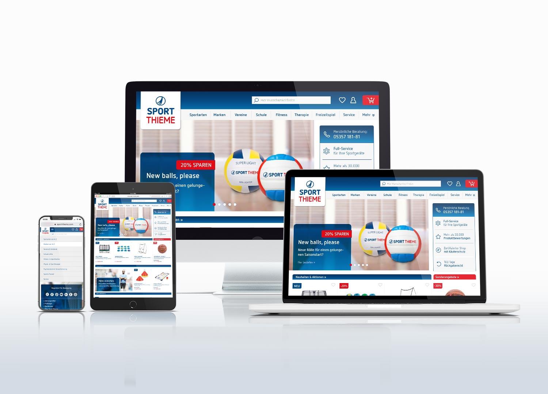 Sport-Thieme Corporate Design Studie: Online-Medien