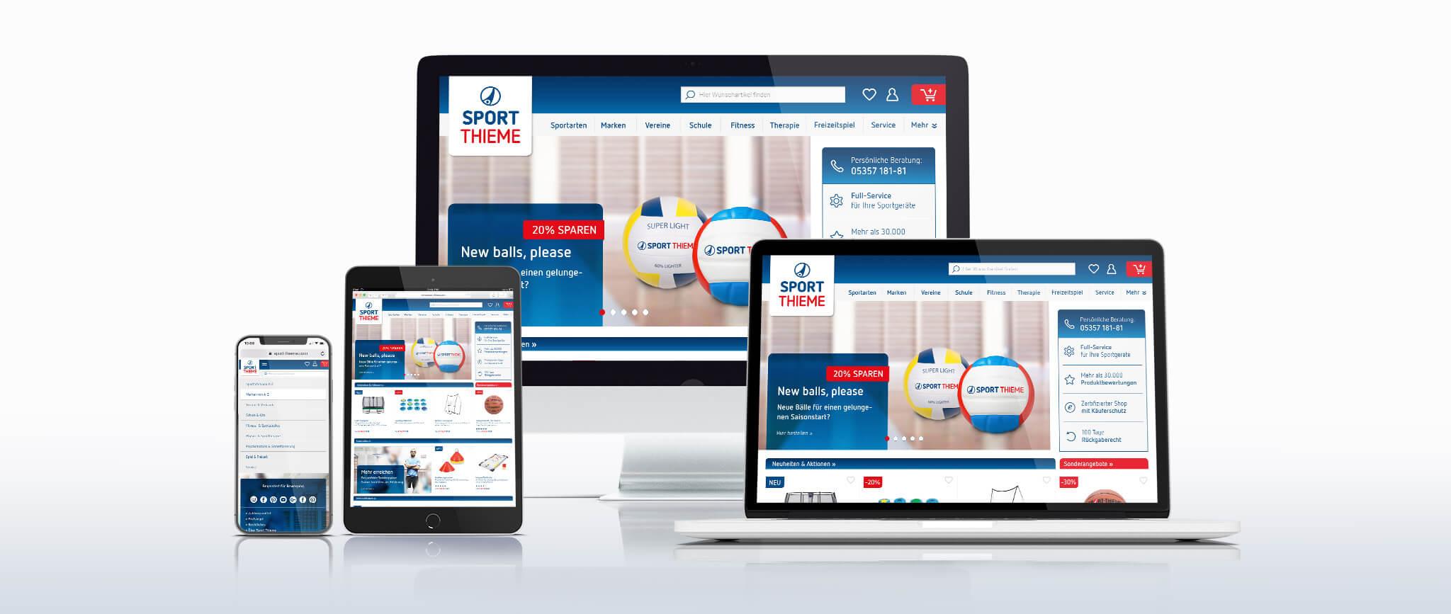 Sport-Thieme Corporate Design Studie: Online Medien