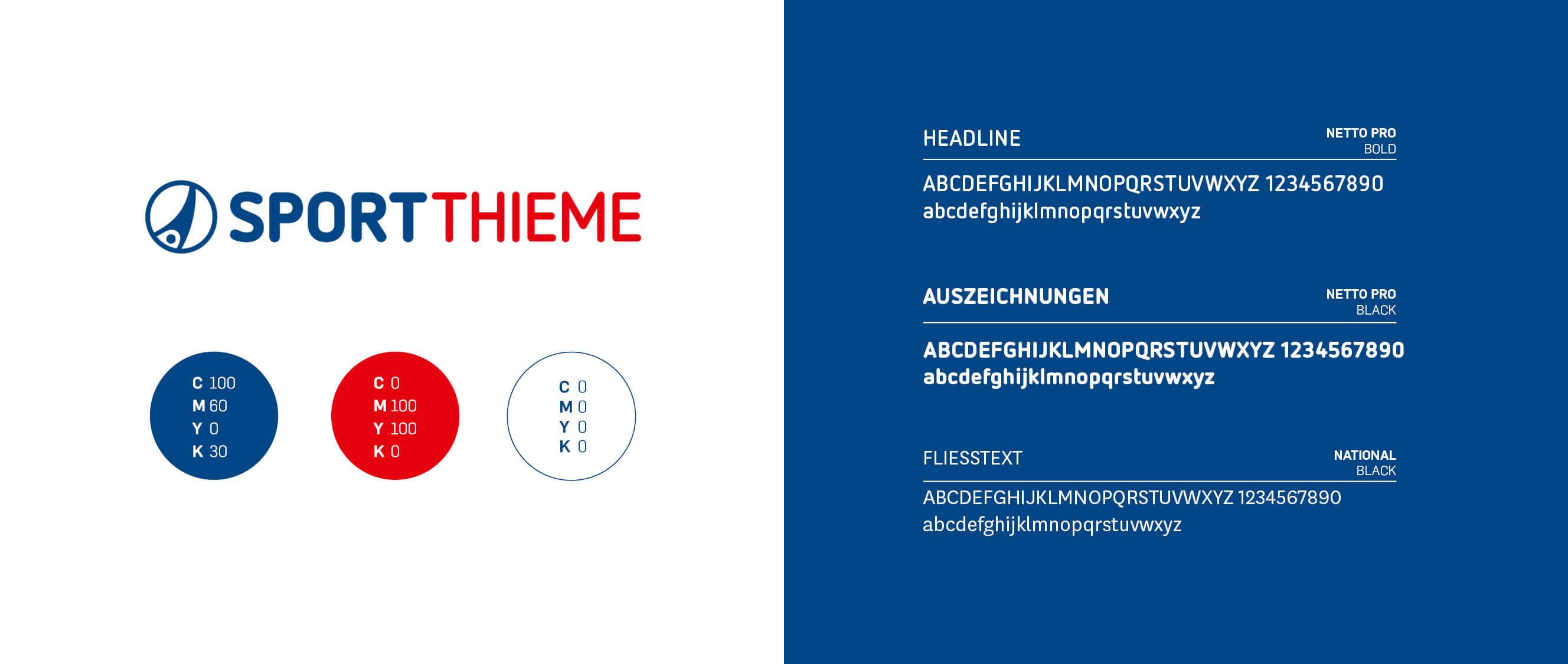 Sport-Thieme: Logo und Farben, entwickelt von Preussisch Portugal