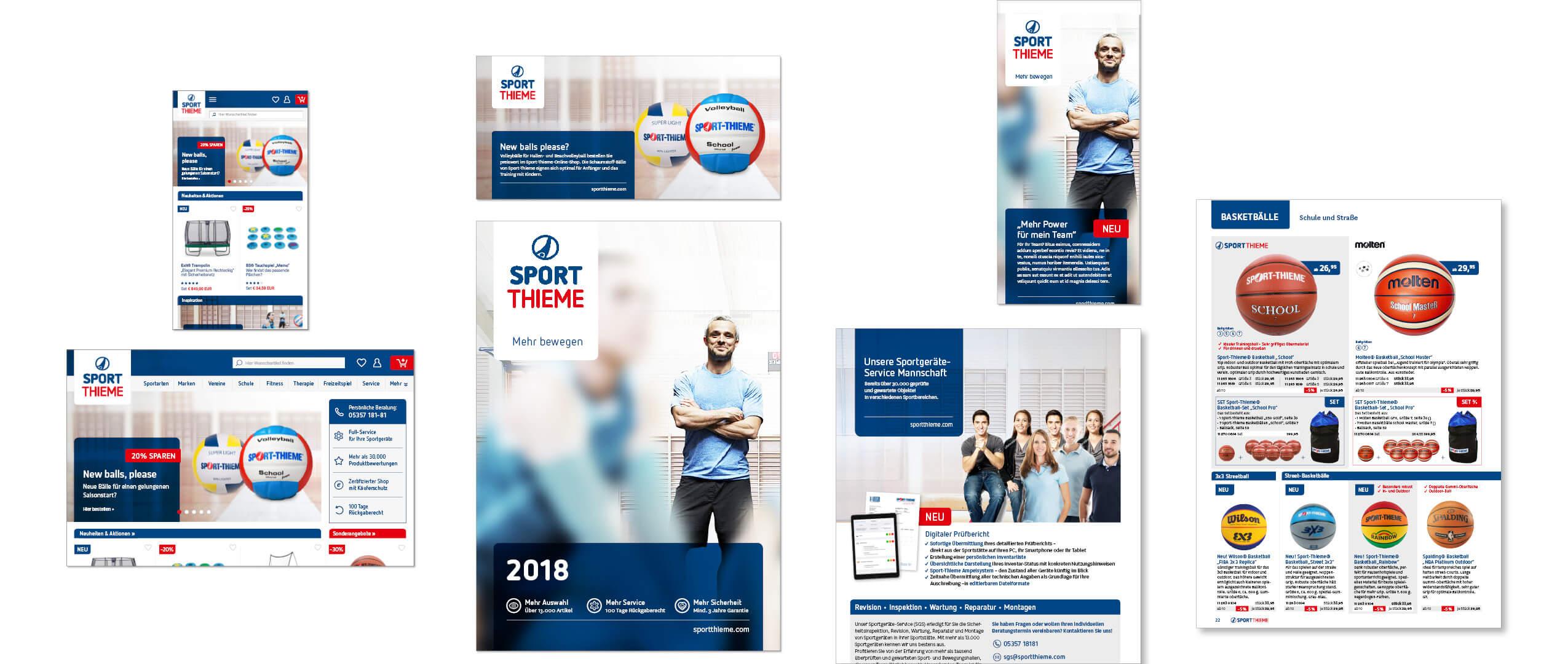 Sport-Thieme: Neues Designsystem und Bildkonzept von Preussisch Portugal