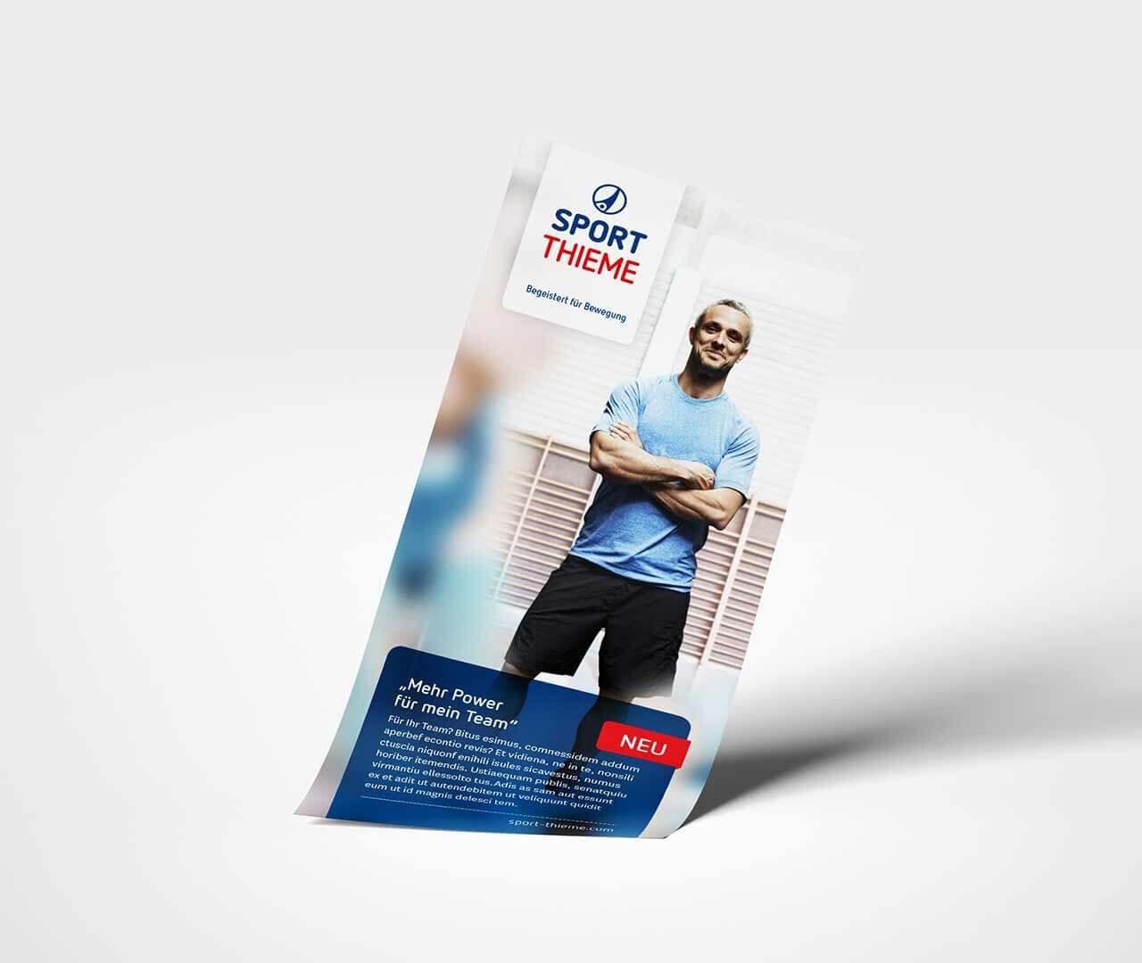 Sport-Thieme: Flyer mit neuem Designsystem von Preussisch Portugal