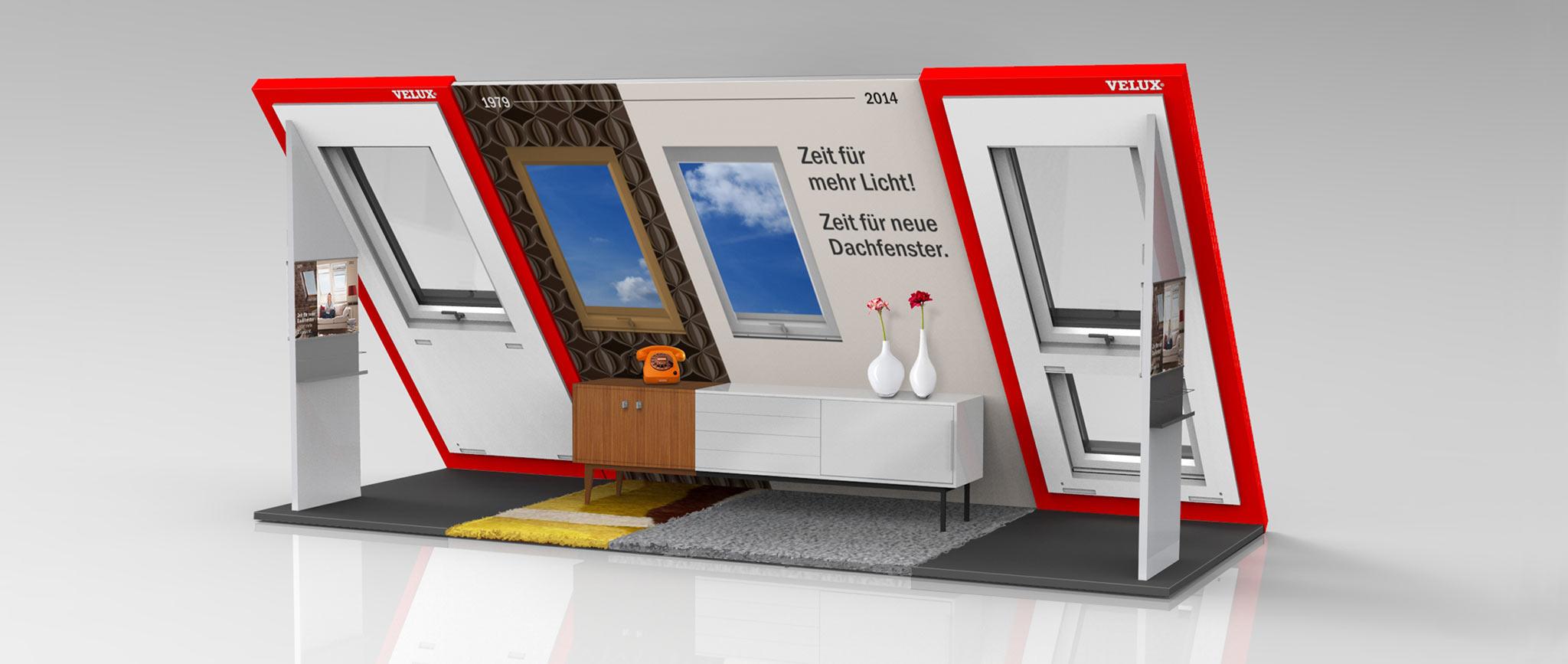 Velux Shop-in-Shop System für den Fachhandel: Shopdesign von Agentur Preussisch Portugal