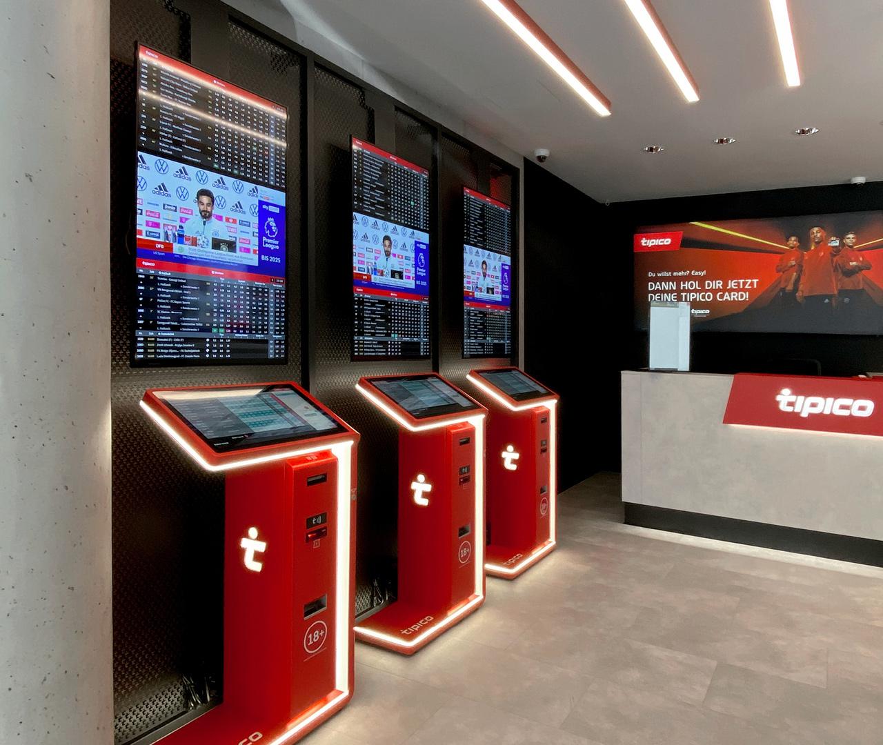 Tipico Shopkonzept 2.0: Wett-Terminal und Tresen