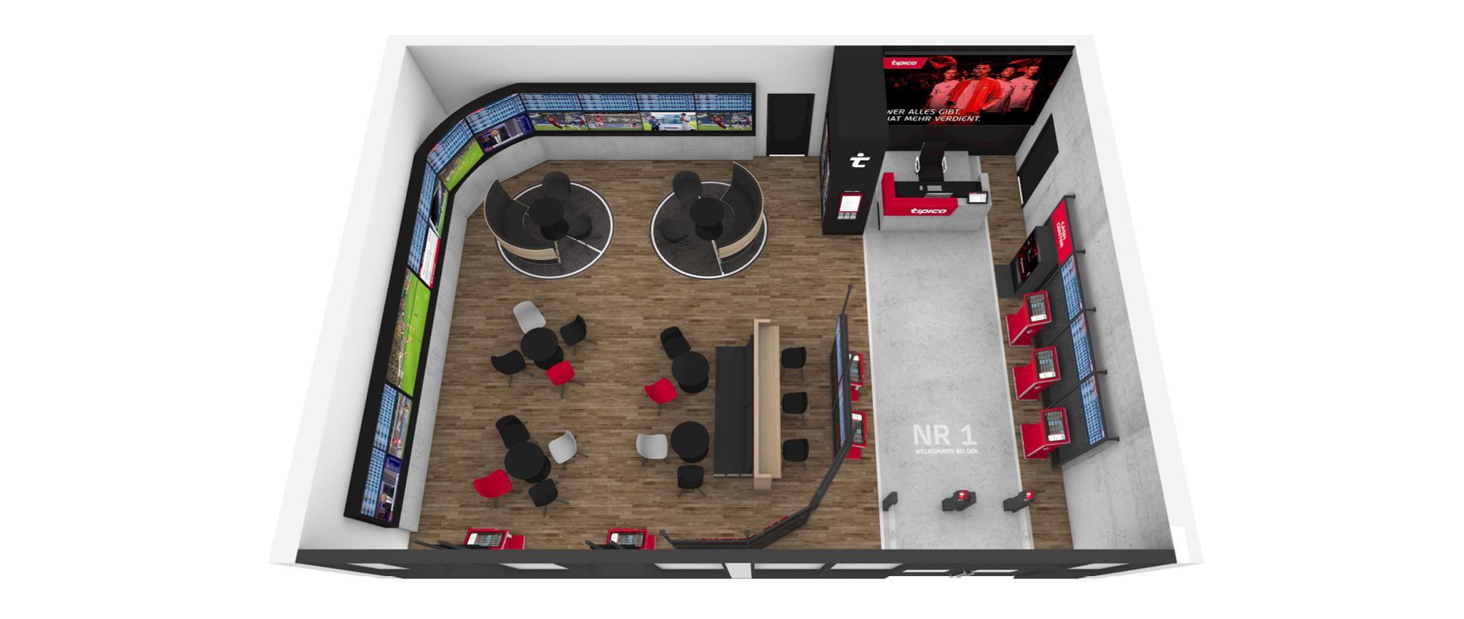 Tipico Shopkonzept 2.0: Raumaufteilung