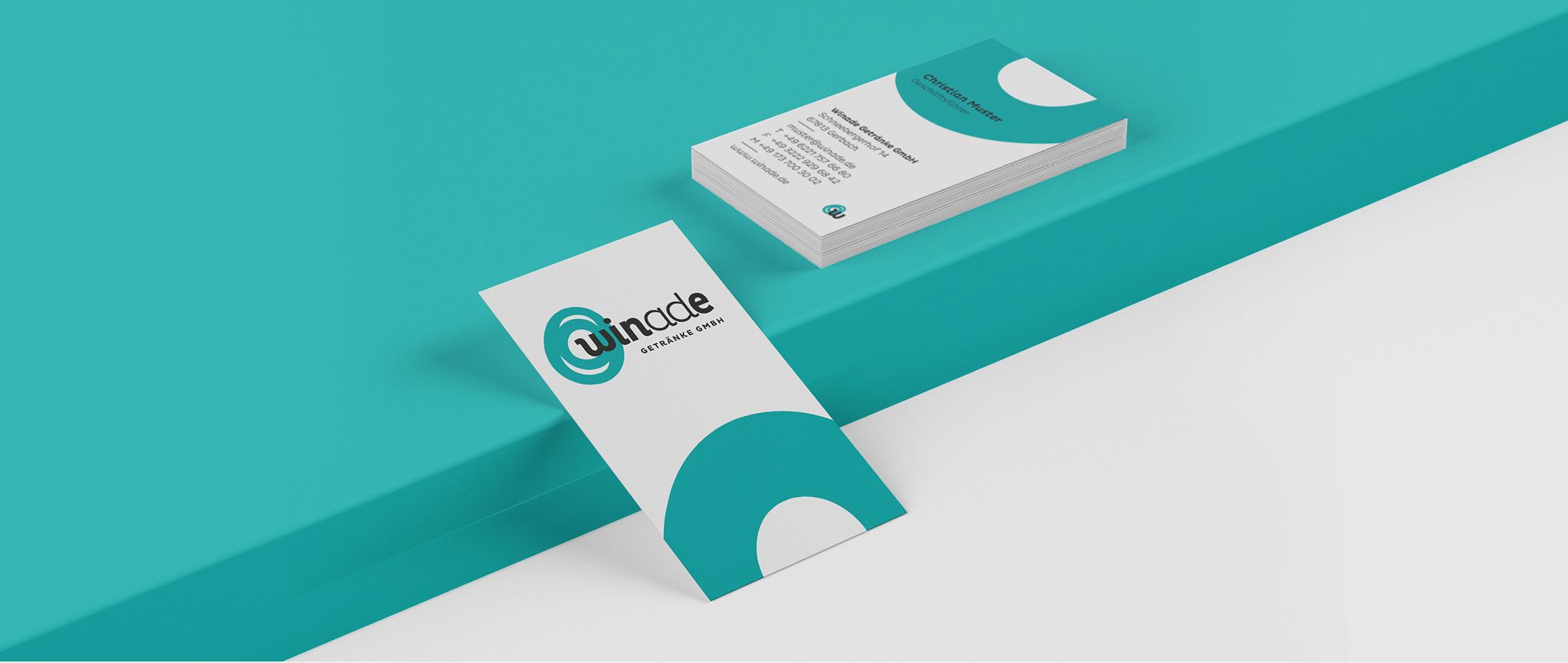 Winade Markenentwicklung: Stationary Visitenkarten