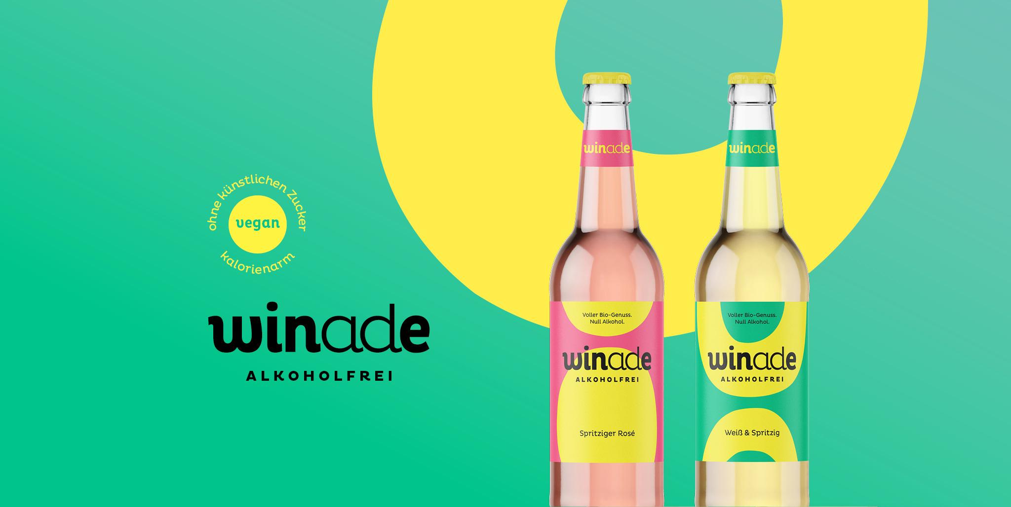 Winade Markenentwicklung: Verpackungsdesign der Flaschen