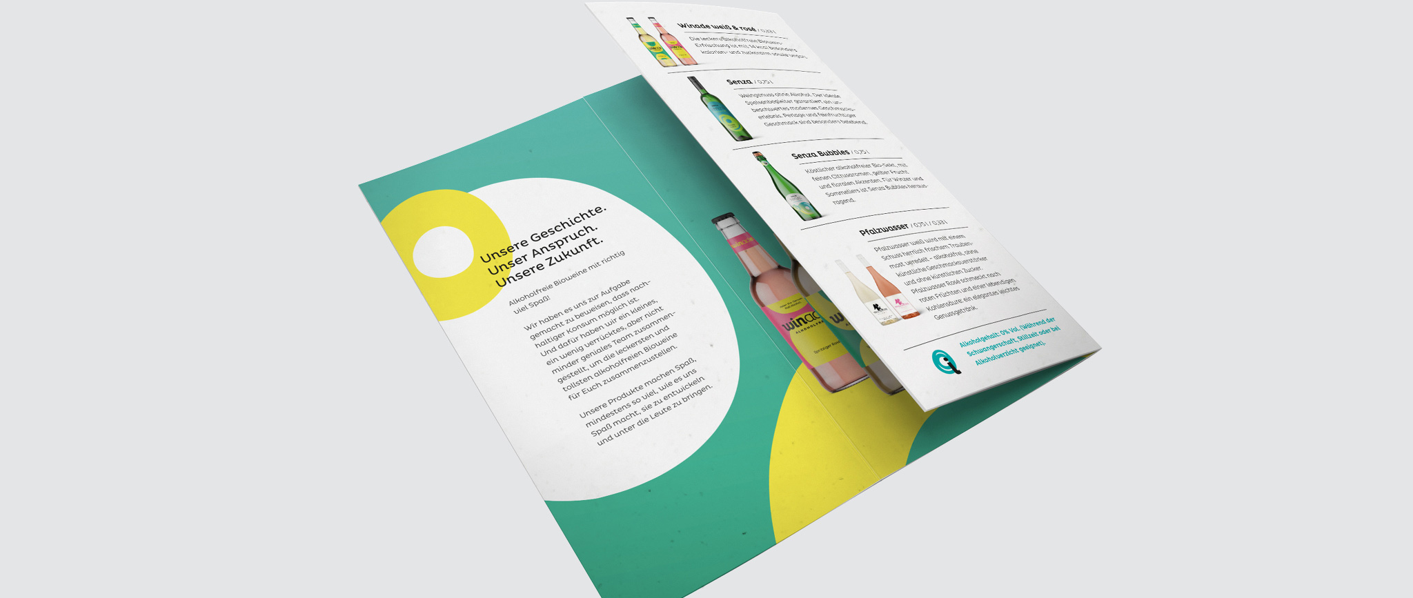 Winade: Flyer Sortiment mit neuem Corporate Design